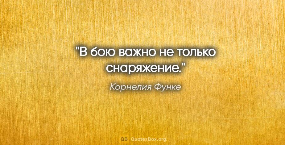 """Корнелия Функе цитата: """"В бою важно не только снаряжение."""""""